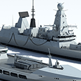 Photo realistic 3D images of ships and naval vessels